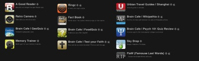 A selection of Urbian, Inc. apps available for Android and iOS