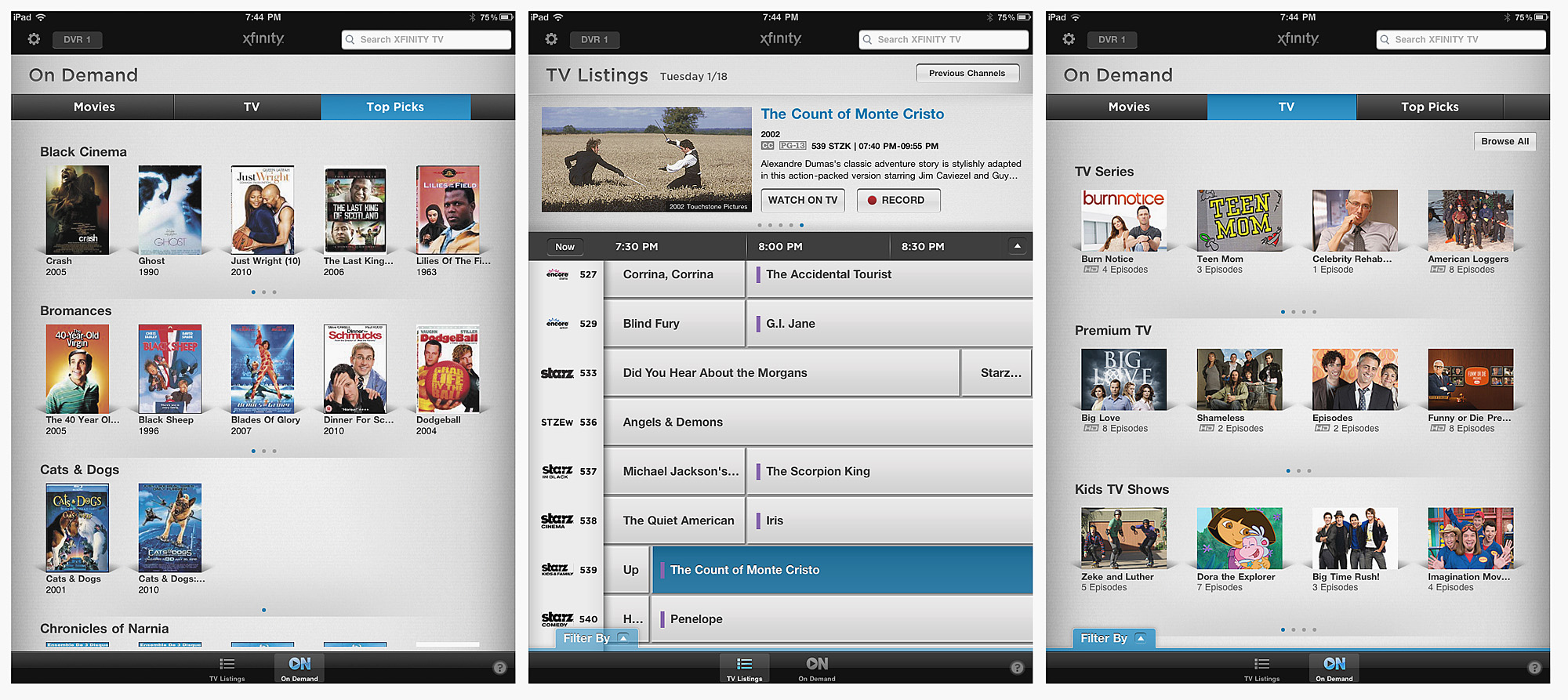 Xfinity app turns your iOS or Android device into TV guide