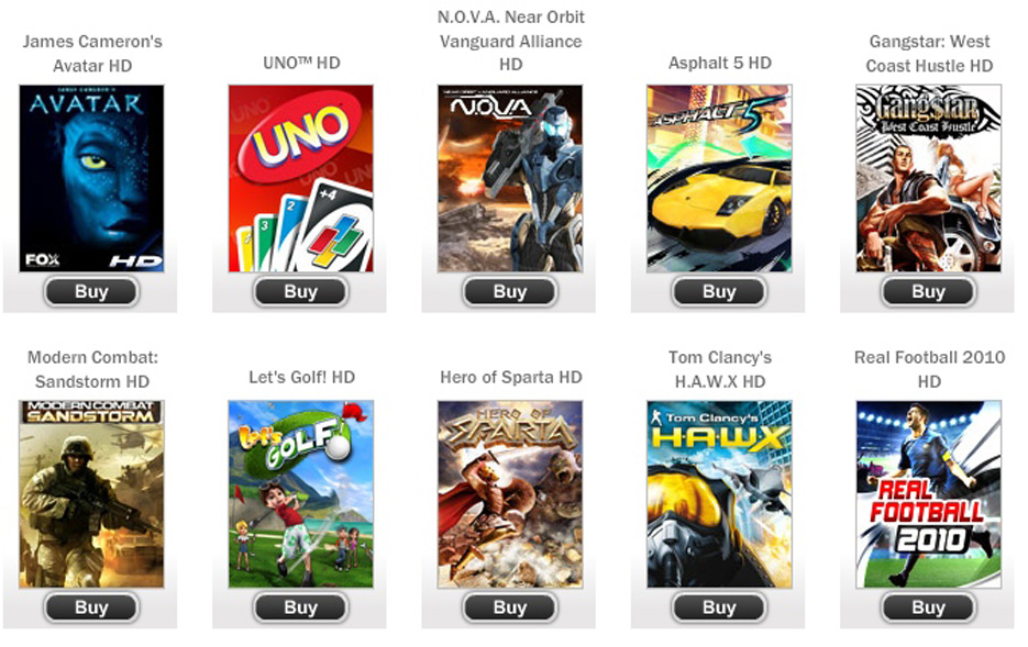 The Gameloft Android Games 2012 {Forum Aden}